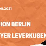 1.FC Union Berlin – Bayer 04 Leverkusen Tipp 14.08.2021