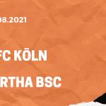 1.FC Köln – Hertha BSC Tipp 15.08.2021
