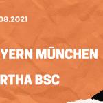 FC Bayern München – Hertha BSC Tipp 28.082.2021
