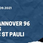 Hannover 96 - FC St. Pauli, 11.09.2021 Tipp