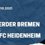 Werder Bremen - 1. FC Heidenheim Tipp 01.10.2021