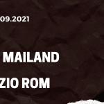 AC Mailand - Lazio Rom Tipp 12.09.2021