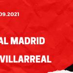 Real Madrid - FC Villarreal Tipp 25.09.2021