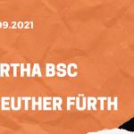 Hertha BSC Berlin – Greuther Fürth Tipp 17.09.2021