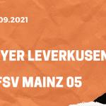 Bayer 04 Leverkusen – 1. FSV Mainz 05 Tipp 25.09.2021