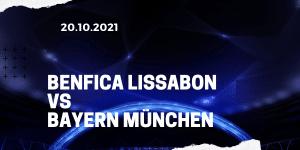 Benfica Lissabon - FC Bayern München Tipp 20.10.2021