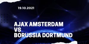 Ajax Amsterdam - Borussia Dortmund Tipp 19.10.2021