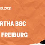 Hertha BSC Berlin – SC Freiburg Tipp 02.10.2021