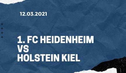 1. FC Heidenheim – Holstein Kiel Tipp 12.03.2021