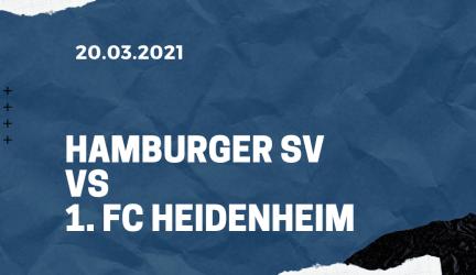 Hamburger SV – 1. FC Heidenheim Tipp 20.03.2021