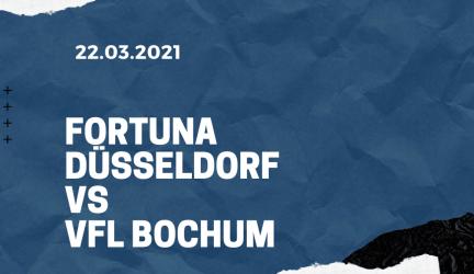 Fortuna Düsseldorf – VfL Bochum Tipp 22.03.2021