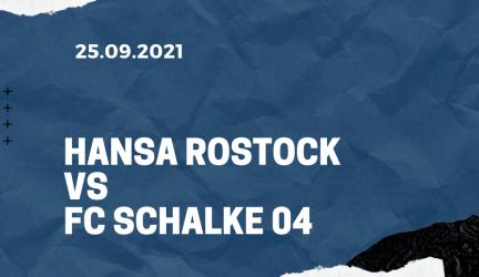 Hansa Rostock – FC Schalke 04 Tipp 25.09.2021