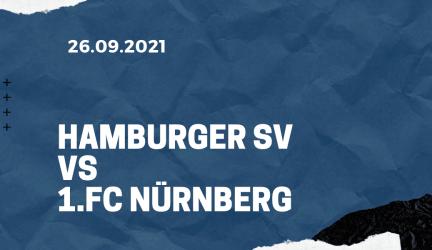 Hamburger SV – 1. FC Nürnberg Tipp 26.09.2021