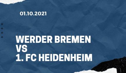 Werder Bremen – 1. FC Heidenheim Tipp 01.10.2021