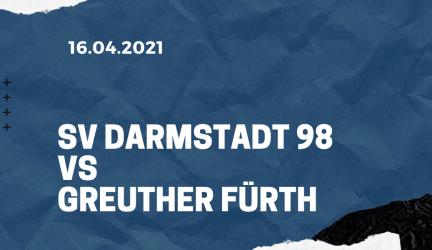 SV Darmstadt 98 – SpVgg Greuther Fürth Tipp 16.04.2021