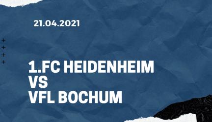 1. FC Heidenheim – VfL Bochum Tipp 21.04.2021