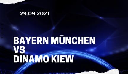 FC Bayern München – Dinamo Kiew Tipp 29.09.2021