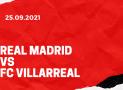 Real Madrid – FC Villarreal Tipp 25.09.2021