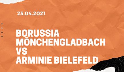Borussia Mönchengladbach – Arminia Bielefeld Tipp 25.04.2021