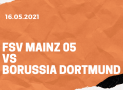 1.FSV Mainz 05 – Borussia Dortmund Tipp 16.05.2021