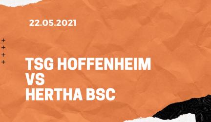 TSG 1899 Hoffenheim – Hertha  BSC Berlin Tipp 22.05.2021