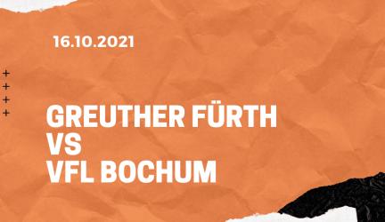Greuther Fürth – VfL Bochum Tipp 16.10.2021